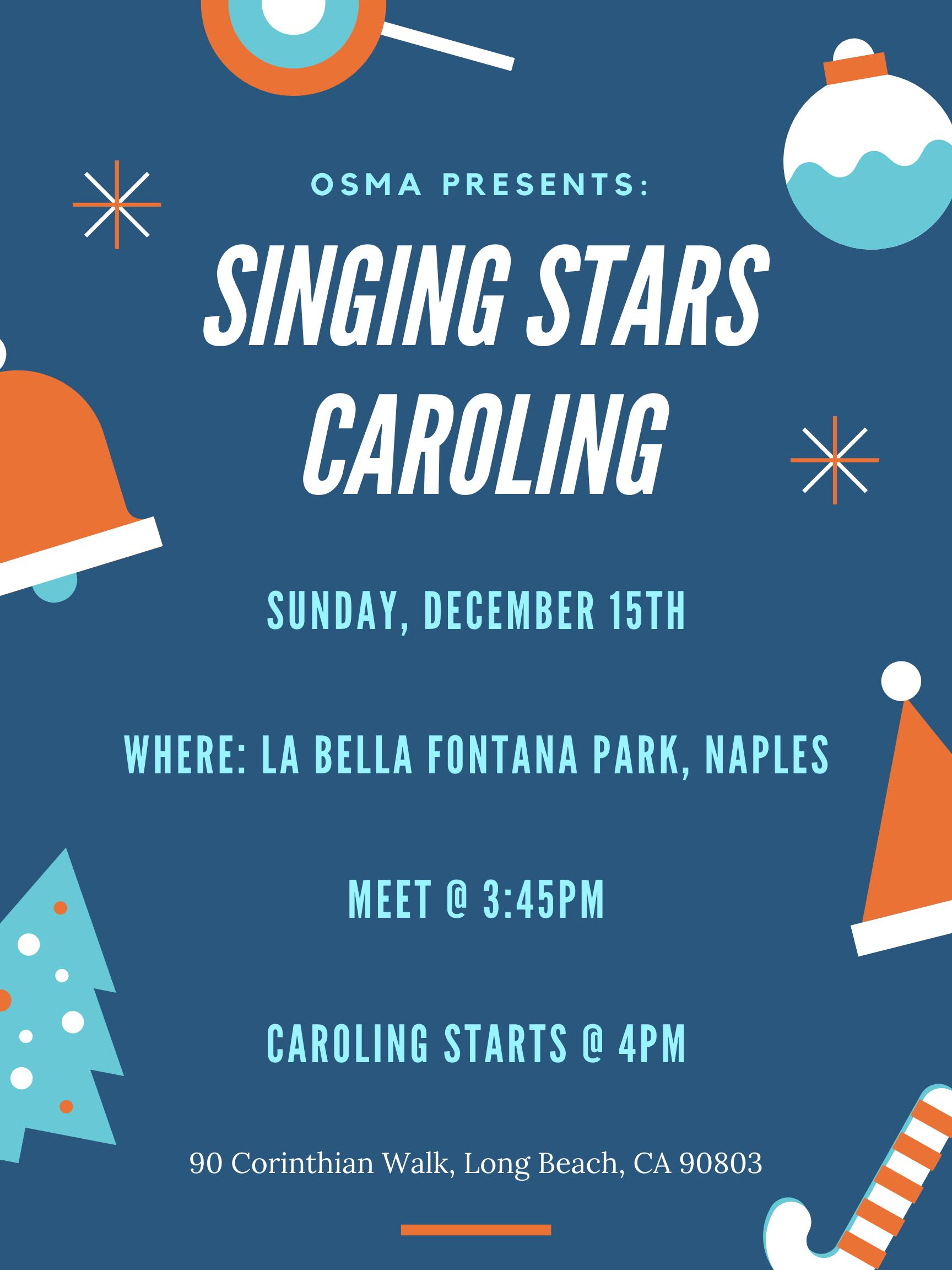 Singing Stars Caroling Poster
